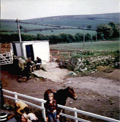 Bild över gårdsplanen på Nine stone farm