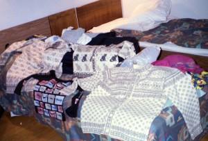 Mitt sovrum med mina inköp