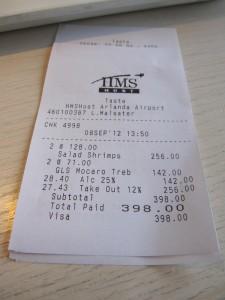 Det är inte billigt på Arlanda =)